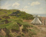 Alfred Munnings, Beach Scene, 1905. ©Estate of Sir Alfred Munnings, Dedham, Essex. All rights reserved, DACS 2020. Towner Eastbourne