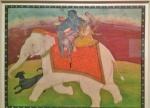Bhairava riding an elephant.