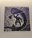 Andrew Qappik linocut print Hunter's dream.