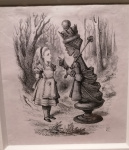 J.Tenniel, Alice and the Red Queen.