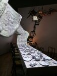 Mad Hatter's Tea Party installation.