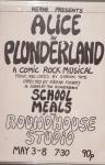 Poster, Alice in Plunderland.