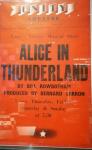 Poster, Alice in Thunderland.