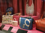 Bags made from discarded plastic.